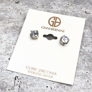 Giani Bernini 8mm CZ Sterling Silver Stud Earrings